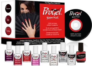 ProGel 100% Gel Polish Starter Kit - Magnifico kit is a Professional Starter Kit that provides a sampling of 6 of the most popular ProGel colors, plus the essentials you need to start using the system.