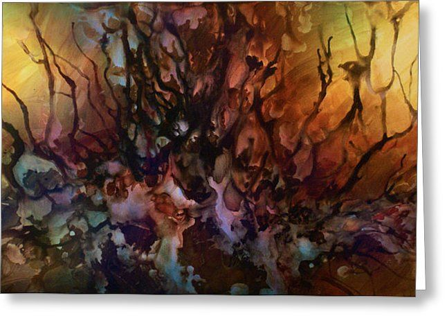 Abstract Design 47 Greeting Card by Michael Lang