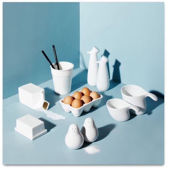 Blanc et bleu...Telle une vaisselle sur un nuage