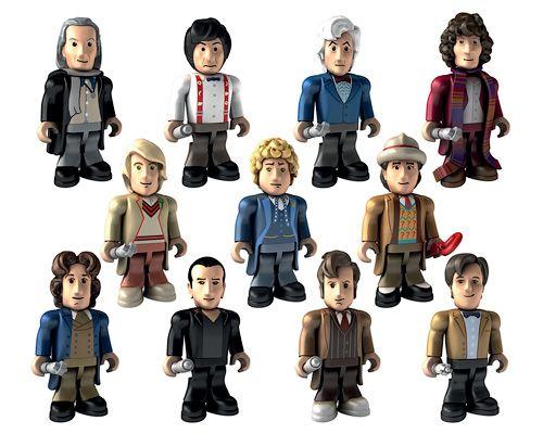 Набор мини-фигурок Одиннадцать Докторов