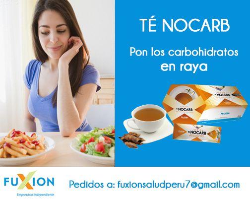 #FuxionSaludPerú:TÉ NOCARB, eleva los niveles de energía y evita la asimilación excesiva de azúcar y grasa. #FuXion