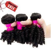 3 Bundles Afro Kinky Curly Human Hair Extension 100% Virgin Peruvian Hair Weave #afflink