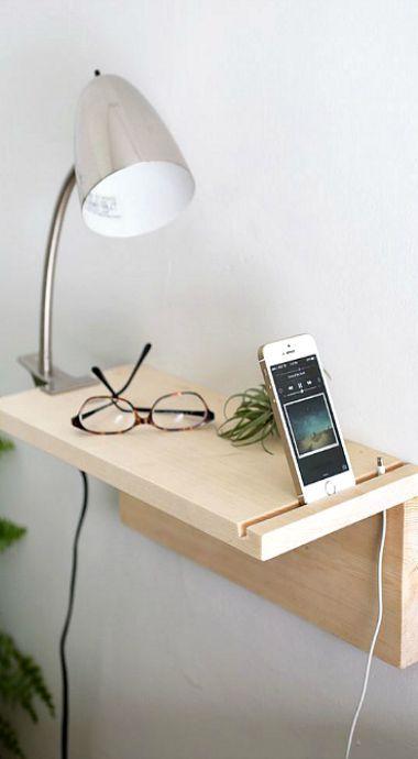 DIY floating nightstand