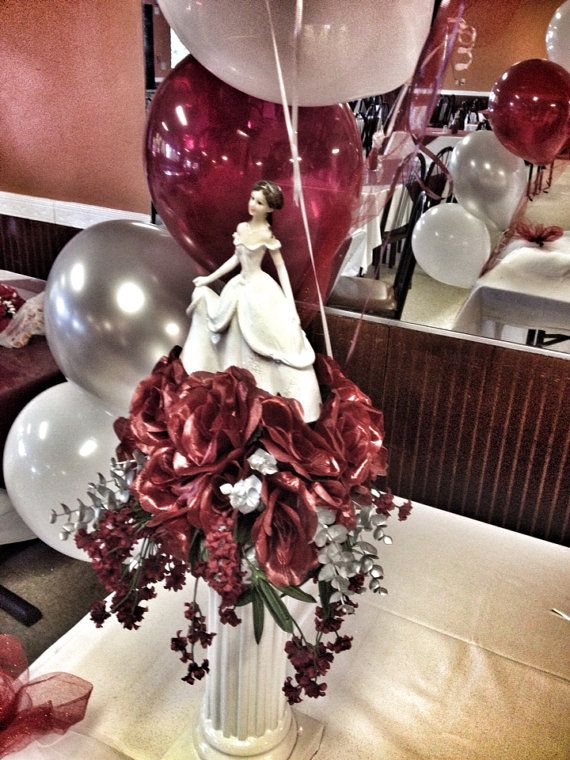 Quinceanera communion centerpiece sweet decor
