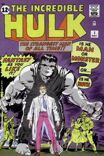 The Incredible Hulk #1 - (1962). With the Hulk, Marvel had created an anti-hero. The Hulk was a creature that simply wanted to be left alone in the desert. He was a man in the body of a monster, but he saw the man as his enemy. You may notice that he's grey here, instead of the familiar green. that only lasted for this one issue.