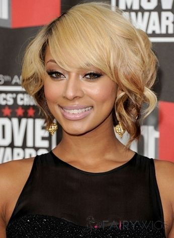 Inexpensive Capless Short Wavy Blonde Indian Remy Wigs for Black Women
