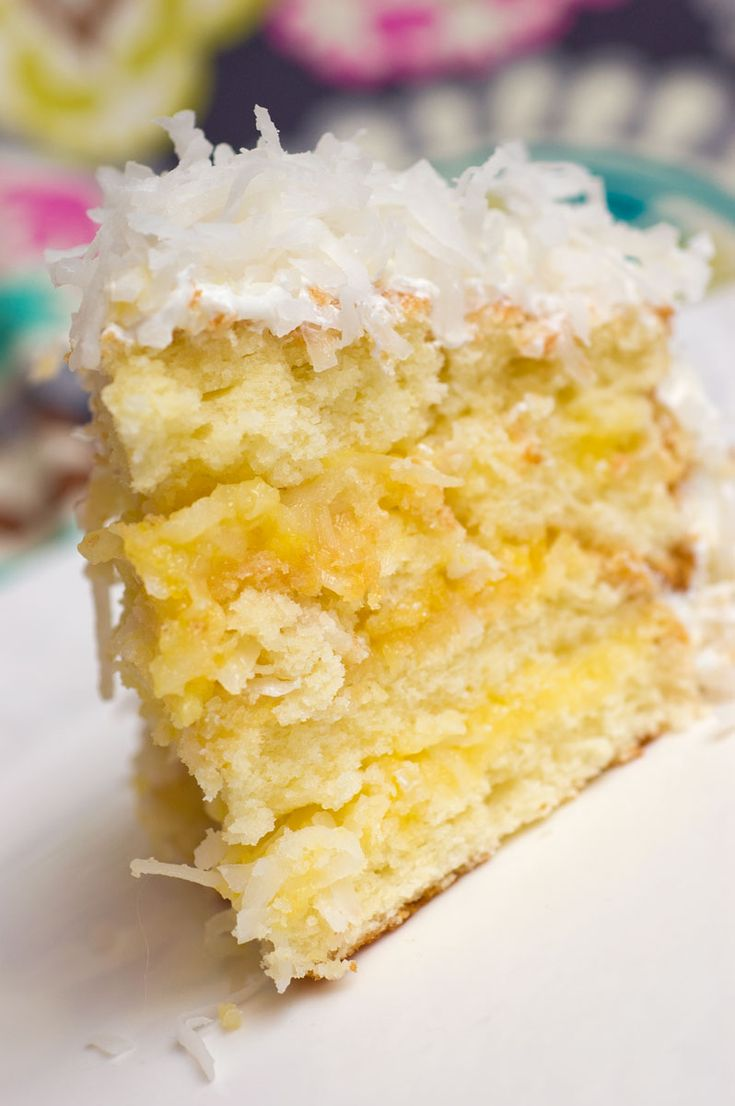Lemon-Coconut Cake. This is to die for!!