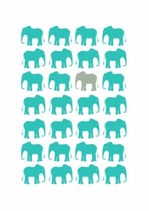 elephants: Teal And Grey, True Colors, Elephants Patterns, Desktop Backgrounds, Elephants Wall Art, Elephants Prints, Elephants Design, Elephants Love, Playrooms Art