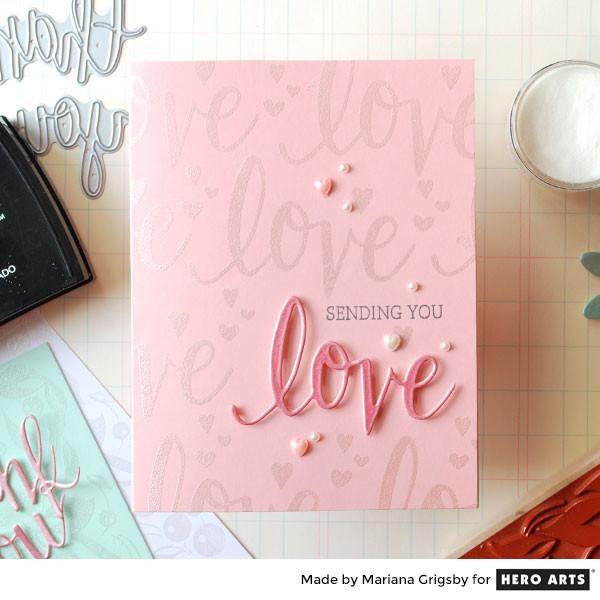 DC175 Love Stamp & Cut | Hero Arts