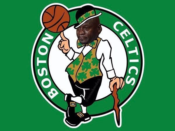 The City of Boston right now after LeBron and the Cavs took it too them on their home court. #cryingjordanface #boston #celtics #bostonceltics #cavs #cleveland #clevelandcavaliers #dhtk #lebron #cryingjordan