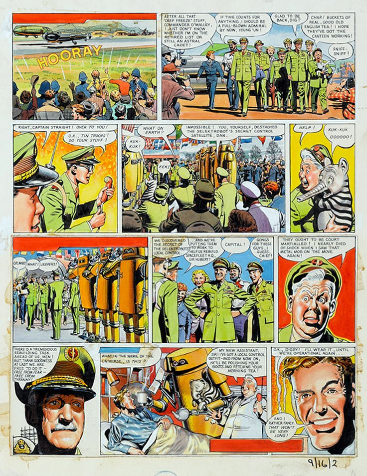 Dan Dare: The Ship That Lived (last page) (Original) art by Frank Hampson at The Illustration Art Gallery