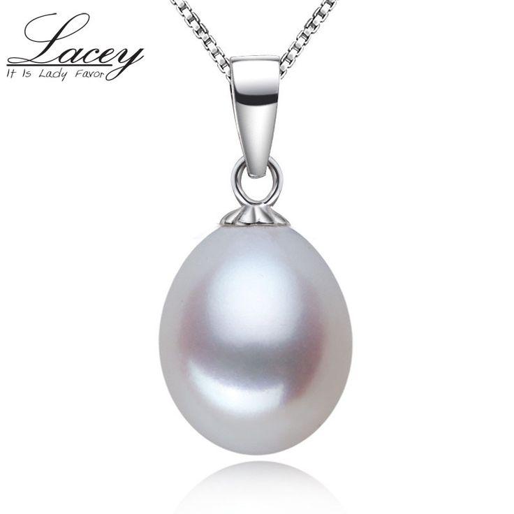Лейси 925 стерлингового серебра жемчуг подвеска настоящее природный жемчуг ожерелье дочь романтический день рождения git белый | Серебряные украшения с жемчугом по доступным ценам в магазине PearlJewelry.ru