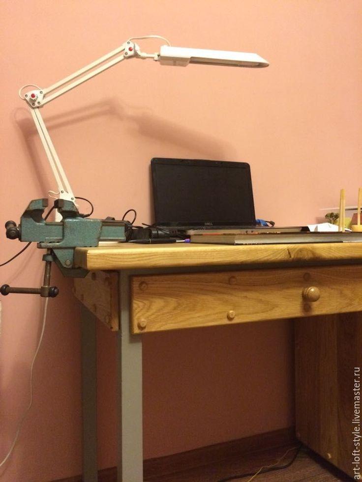 Купить Рабочий стол - современный верстак из дуба. - рабочий стол, верстак, стол из дуба