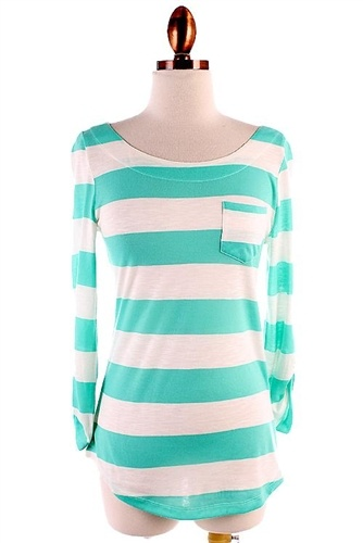 Striped Pocket Detail Top, Trendy Clothing, Popular Clothing, Trendy Dresses, Chevron Print Dress
