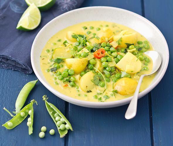 Rezept: Gemüsecurry mit Kartoffeln und Erbsen bei for me
