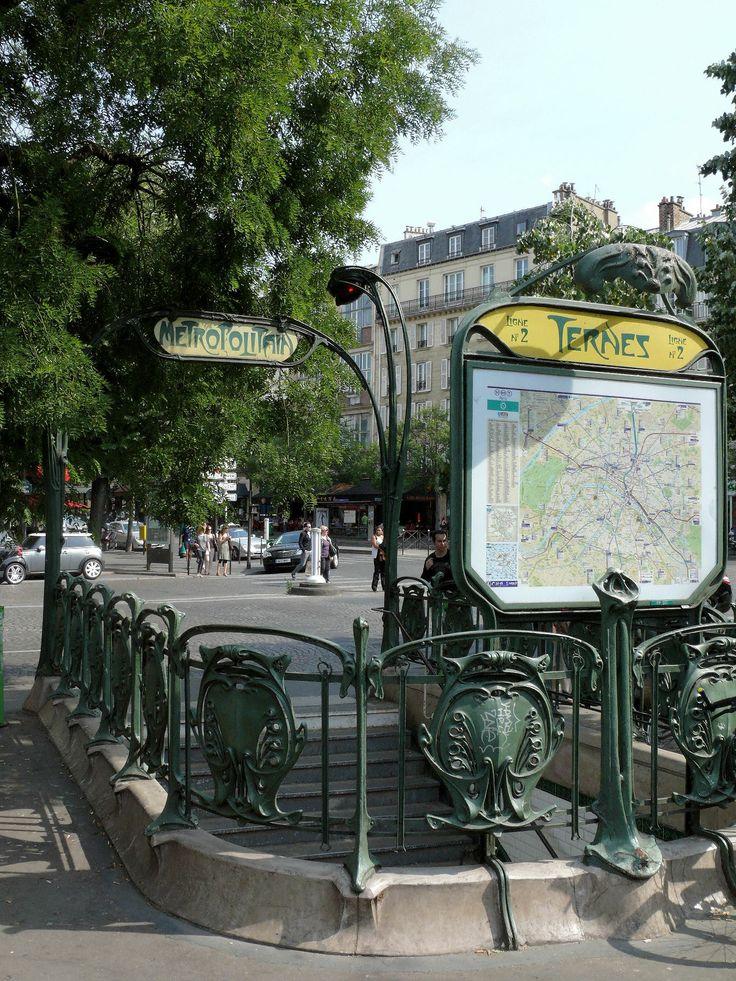 Paris, Métropolitain, Entrée de la station Ternes 2, arch. Hector Guimard