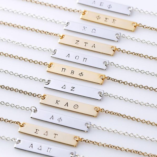 Bracelets & Necklaces | on site for 21 different houses | Big Little Gifts | Sorority Recruitment | Alpha Delta Pi | Sigma Delta Tau | Alpha Phi | Kappa Alpha Theta | Delta Zeta | Pi Beta Phi | Alpha Omicron Pi | Zeta Tau Alpha | Chi Omega | Phi Sigma Sigma | Alpha Epsilon Phi