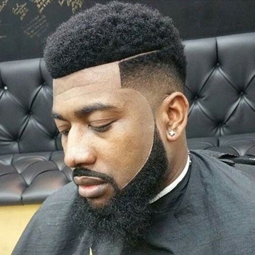 Temp Fade with Short Afro