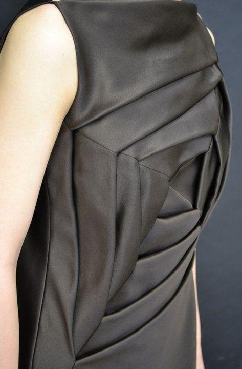 Origami Dress by Shingo elegant texture created through the art of folding #fashion textile manipulation
