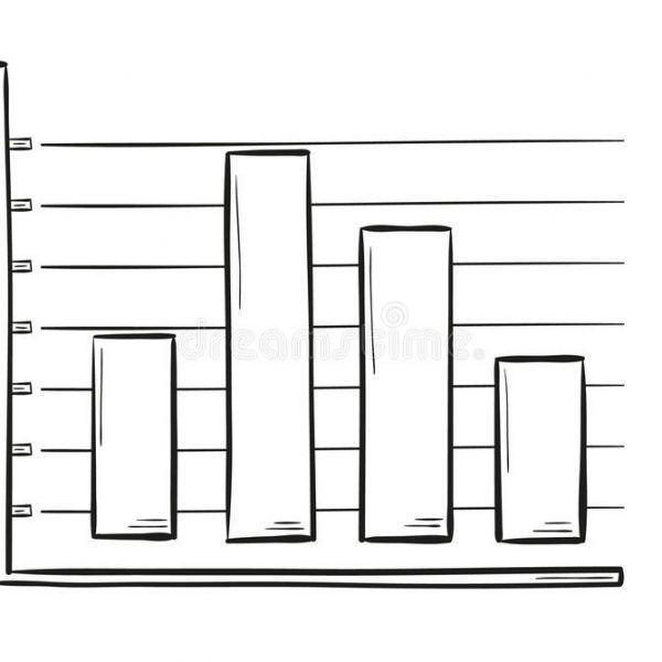 Sketch Of The Bar Chart Stock Vector Illustration Of Cartoon Inside Bar Graph Clip Art Black And White20269 Clip Art Bar Graphs Graphing