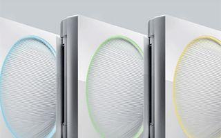 Split #aireacondicionado #LG con luz LED en distintos colores
