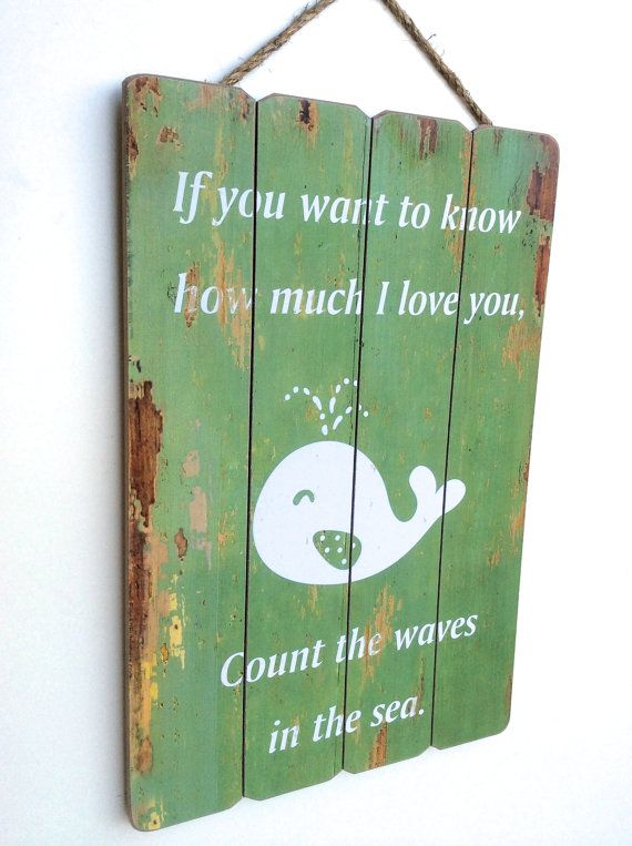 Whale Nursery Baby Nursery Quotes Whale Wall Art by honeywoodhome