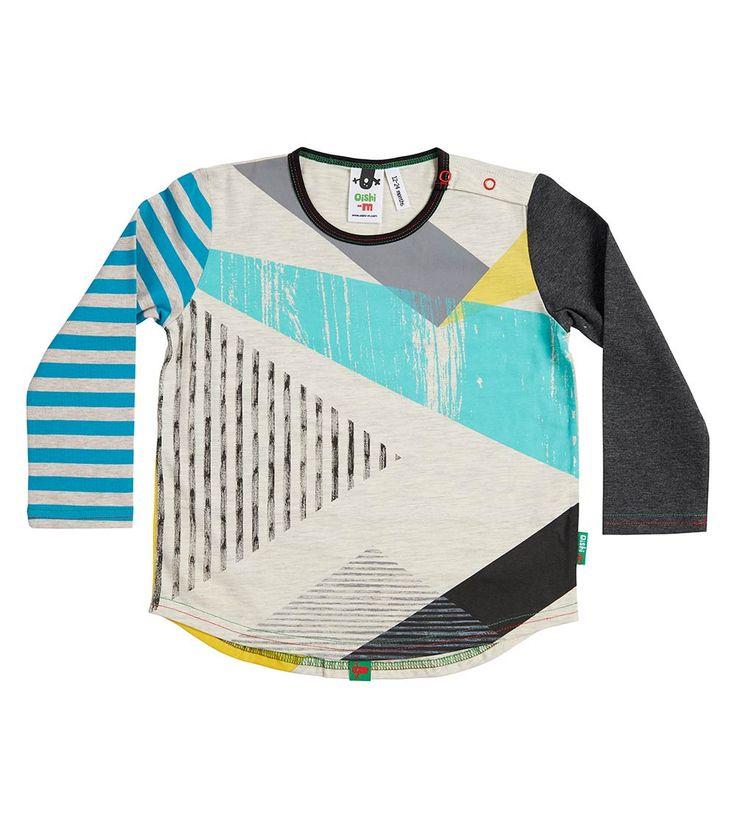 Pythagoras LS Splice T Shirt, Oishi-m Clothing for Kids, Winter 2018, www.oishi-m.com