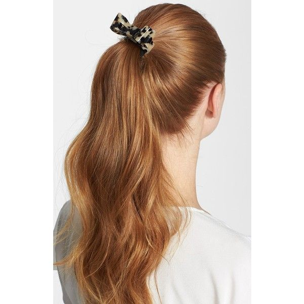 Women's L. Erickson 'Ballet Bow' Ponytail Holder ($65) ❤ liked on Polyvore featuring accessories, hair accessories, hair, hairstyles, hair styles, cabelos, beauty, l. erickson, ballet hair accessories and l. erickson hair accessories