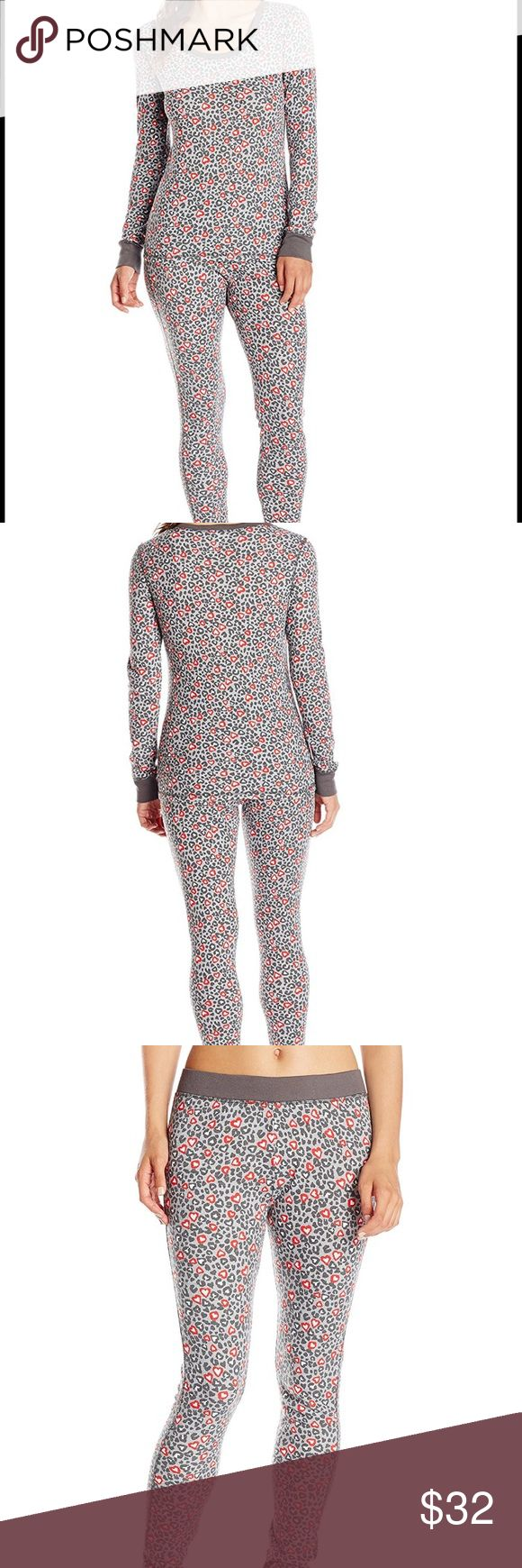 St Eve Leopard Love Thermal Set ❤️❤️❤️ St Eve Two Piece Thermal Set in Leopard Love Print Intimates & Sleepwear Pajamas