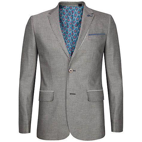 Buy Ted Baker Veerity Diamond Jacquard Suit Jacket, Grey Online at johnlewis.com