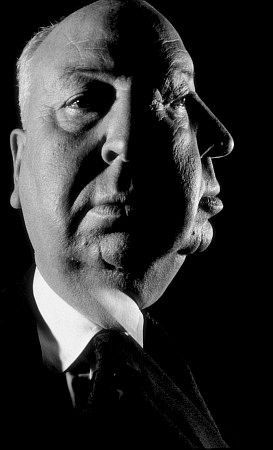 Alfred Hitchcock, 1962.  BRILLIANT director and mastermind - NOTE:  Did you know that Mr Hitchcock makes a small cameo appearance in each of his films?  Watch for them!!  pro