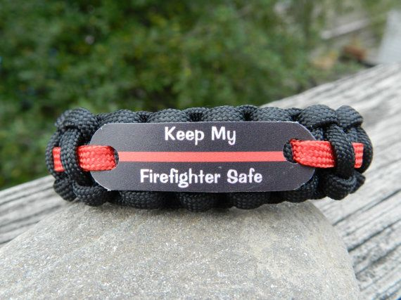 Keep my Firefighter Safe Thin Red Line Firefighter by EMSALERTS