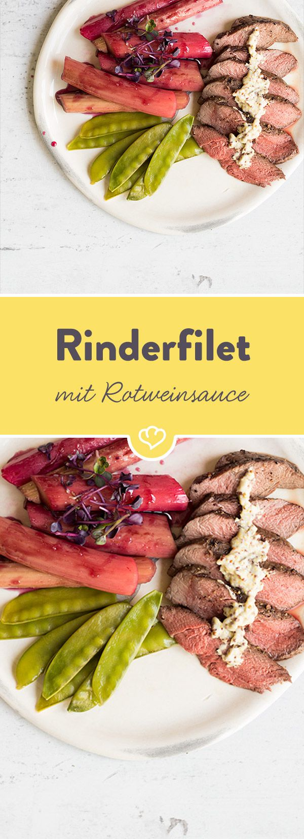 Karamellisiert und in Rotwein gebadet, ist Rhabarber auch eine erstklassige Begleitung zu saftigem Rinderfilet und bringt das gewisse Etwas auf den Teller.