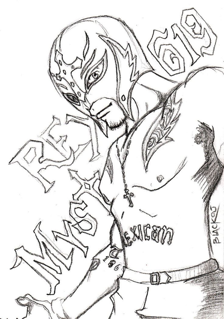 Rey Mysterio Coloring Pages Printable