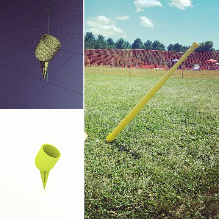 Design of the Week: Wiffle Ball Bat Hodler #3DPrinting