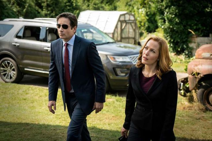 """JANUARY 24,  2016: TV drama """"The X-Files"""" returns after 13 years, reuniting lead actors David Duchovny and Gillian Anderson, and produced, again, by Chris Carter."""