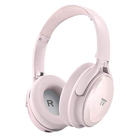 Taotronics Active Noise Cancelling Bluetooth Headphones Over Ear Wireless Headset Dual 40 Mm Driv Bluetooth Headphones Headphones Noise Cancelling Headphones