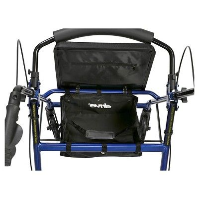 Drive Medical Walker Rollator with 6 Wheels, Fold Up Removable Back Support and Padded Seat, Blue