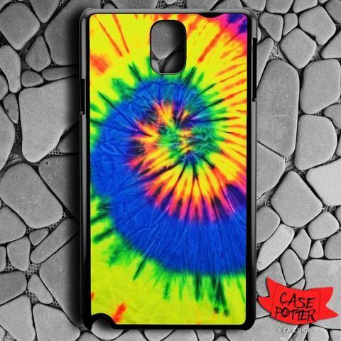 Tie Dye Color Samsung Galaxy Note 3 Black Case