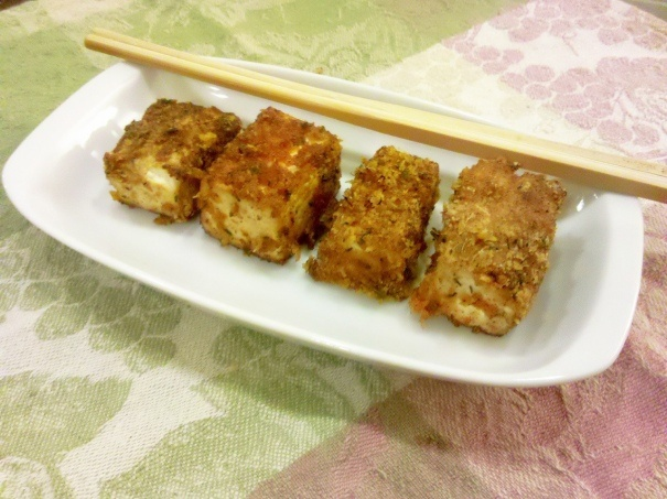 Crispy Fried Spicy Tofu | food and drinks | Pinterest