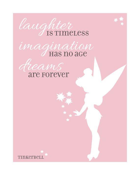 Disney Quote Tinkerbell by GreenSplashDesigns on Etsy