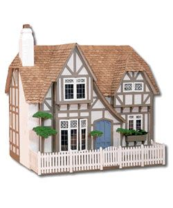 @Overstock - Dollhouse enthusiasts will love this Tudor dollhouse kit. This dollhouse is simple to assemble, and features authentic details such as beamed ceilings and window seats. A spacious interior lets you install dollhouse furnishings of your choice.http://www.overstock.com/Sports-Toys/The-Glencroft-Dollhouse-Kit/612799/product.html?CID=214117 $72.99
