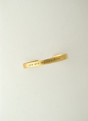 Gold You Are My Sunshine Cuff Bracelet