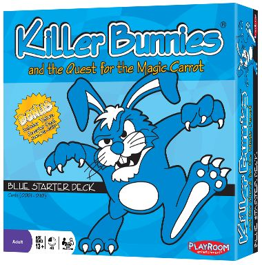 Killer Bunnies and the Quest for the Magic Carrot - Killer Bunnies is a fast paced, action filled card game, in which you must try to keep as many Bunnies alive as possible, while eliminating your opponents' Bunnies.