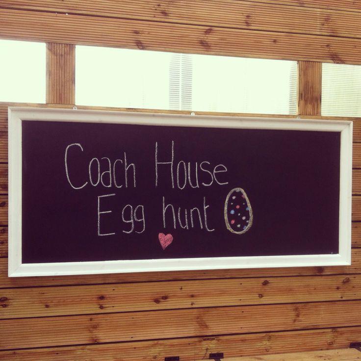 Outside blackboard! Easter egg hunt