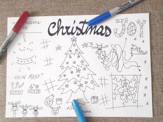 christmas kids activity sheet adevent calendar games table coloring printable printable xmas diy download colouring digital lasoffittadiste