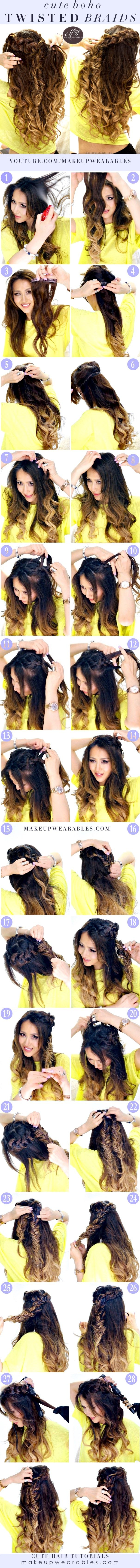 Combo Braid Half-Up Hairstyle |  Cute Everyday Hairstyles  with Curls