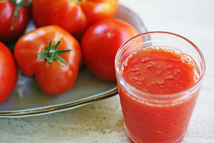 Homemade Tomato Juice ~ Have an abundance of tomatoes in your garden?  Make your own delicious tomato juice, a homemade V-8. ~ SimplyRecipes.com