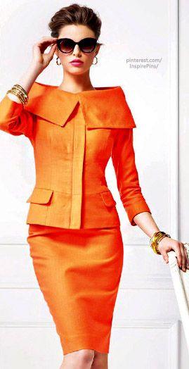 Orange Business Dress