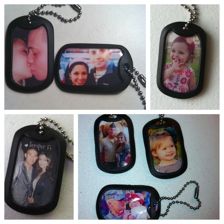 Made by one military family member to another! Get your personalized dog tags starting at $7.00. Can also include short sayings on some! :) email me at hunleaxohairbows@yahoo.com